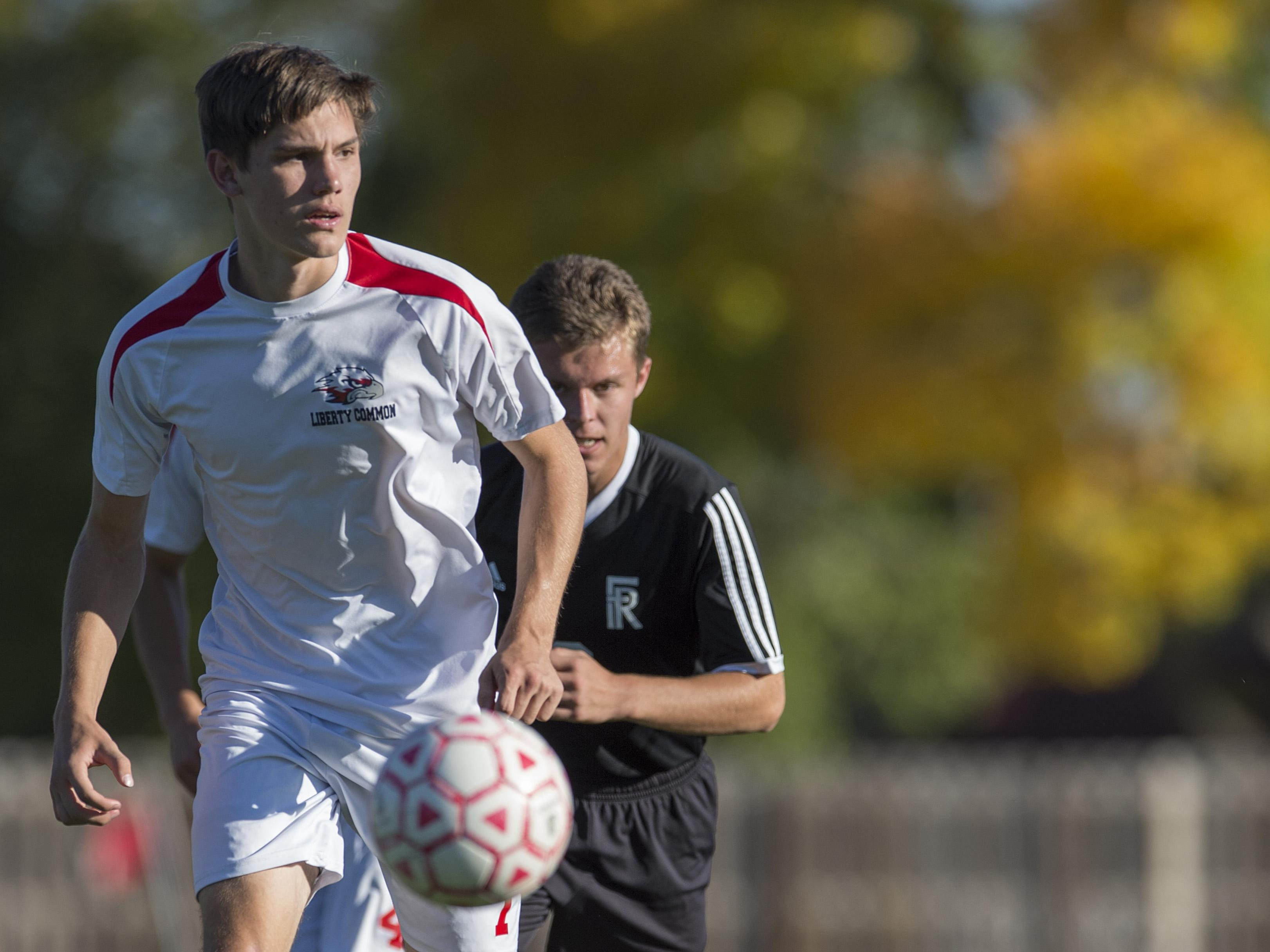 Rob Knab of Liberty Common is second among area players in goals and the Eagles are ranked No. 4 in Class 3A.