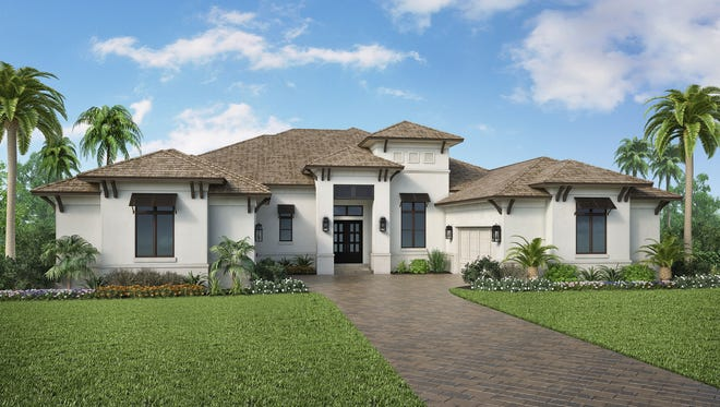 Stock Custom Homes is building this residence at 179 Mahogany Drive in Pine Ridge.