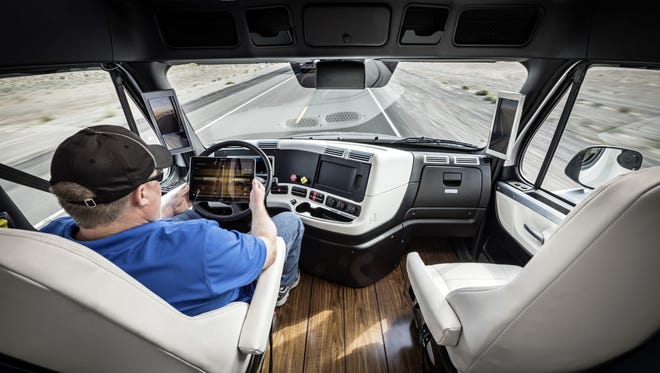 Daimler' Freightliner semi in 2015 was the first licensed driverless commercial vehicle open U.S. highways. Rivals have since upped their game.