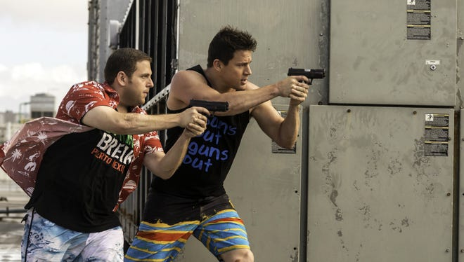 "Jonah Hill, left, and Channing Tatum are at it again in ""22 Jump Street."" And that's part of the joke."