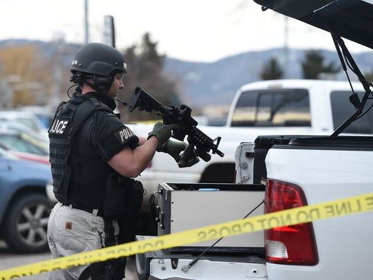 Multiple police personnel from Fort Collins and Larimer County responded to a Dec. 7, 2015, standoff during which a suicidal subject threatened herself with what was ultimately determined to be a replica pistol. The woman was safely taken into custody.