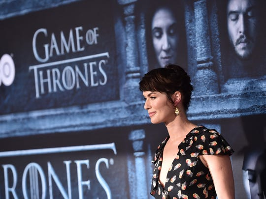 "Actress Lena Headey attends the premiere of HBO's ""Game Of Thrones"" Season 6 at TCL Chinese Theatre on April 10, 2016 in Hollywood, California."