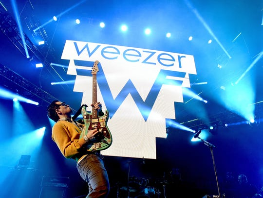 Recording artist Rivers Cuomo of music group Weezer