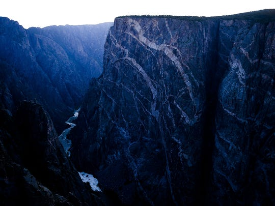 The final bits of the day's  light show off the Painted Wall at the Black Canyon of the Gunnison National Park in 2015.