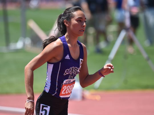 Mason's Maria Ramirez won the Class 2A girls 800-meter