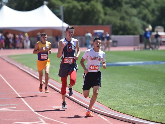 Sonora's Evan Shannon runs in the 1,600 meters Saturday,