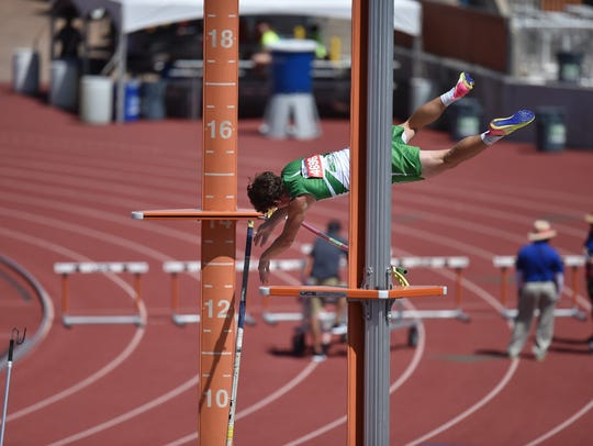 Wall's Garrett Stephens competed May 12, 2017, during Class 3A competition at the UIL State Track and Field Championships in Austin. He was state runner-up as a junior.