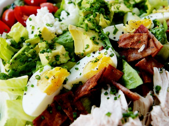 Milk & Honey Organic Café's Cobb salad October 11, 2017.