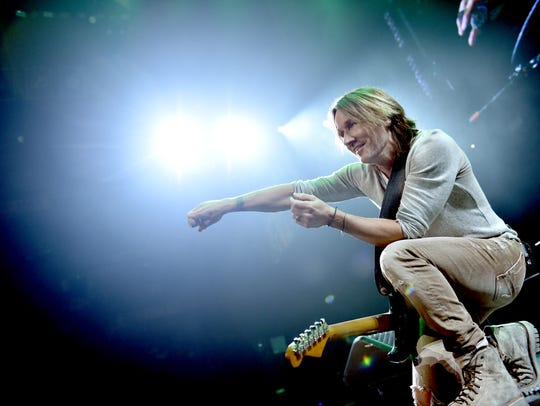 Keith Urban performs during the Country Rising benefit