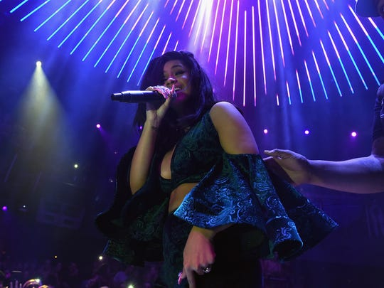 Cardi B performs at E11EVEN on November 22, 2017 in
