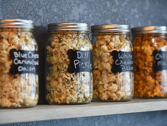 Specialty flavors at Rebel Popcorn in Fort Collins.