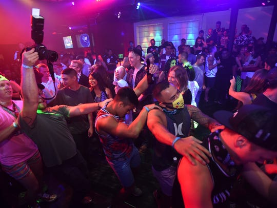 Party kids hit the dance floor during Road to EIF Guam
