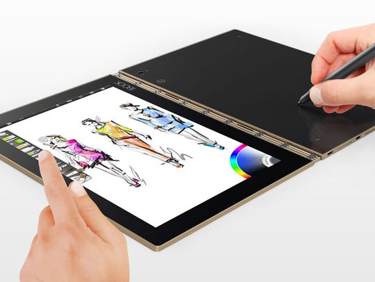 The Lenovo Yoga Book is a canvas for digital art, an