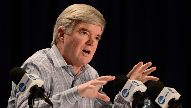 "NCAA President Mark Emmert said Thursday the organization's participation as a conduit for consumers to by memorabilia related to individual college athletes was ""hypocritical""."