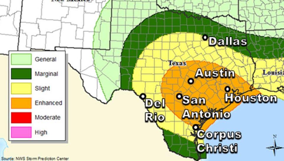 Potential for severe weather Saturday, Nov. 22.