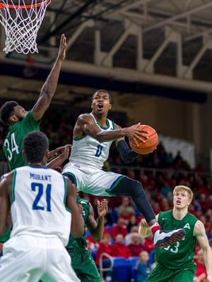 Along with junior center Ricky Doyle, FGCU junior guard Brandon Goodwin was held out of Wednesday night's game at UNF by coach Joe Dooley. The status of the Eagles' leading scorer and rebounder and Doyle for Saturday's home game against JU still is up in the air.