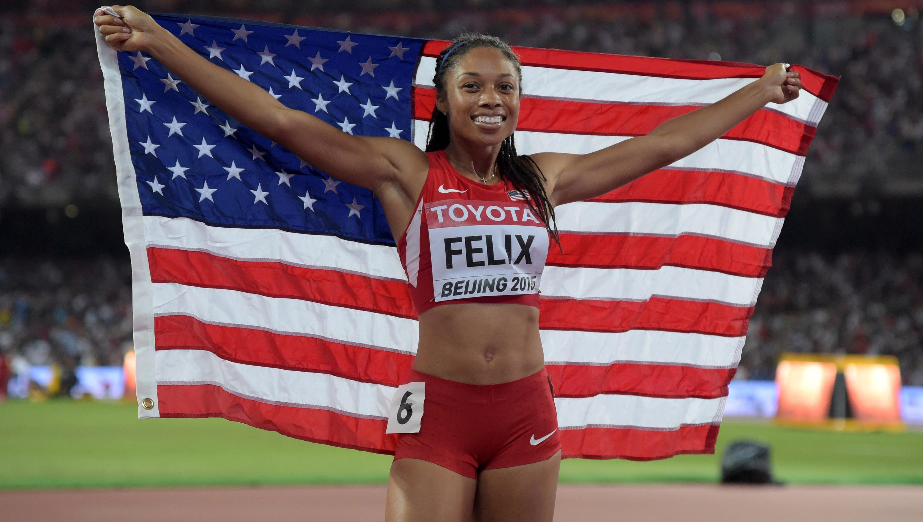allyson felix able to compete in 200