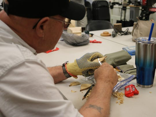 The Maumee Bay Carvers Association hosts a free weekly carve-along session at Woodcraft of Toledo. On Saturday, the group hosts its 36th annual Maumee Bay Carvers Show and Competition at Magee Marsh.
