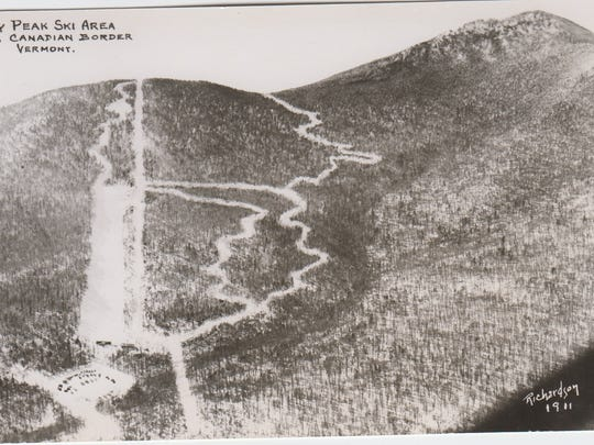 A photo of Jay Peak in the 1950s.