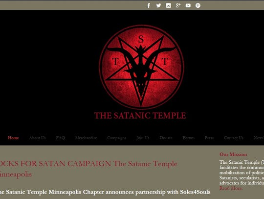 A screenshot of the Satanic Temple's website.