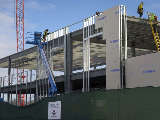 The Bellin Health Sports Medicine & Orthopedics clinic in the Green Bay Packers Titletown District begins to take shape.