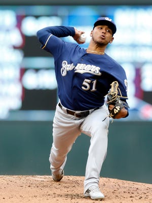In 12 starts with Class AAA Colorado Springs, Freddy Peralta, who will start Tuesday for the Brewers, is 6-1 with a 2.75 ERA and 84 strikeouts in 59 innings.
