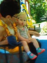 Antoinette Quain sits alongside her granddaughter Alison