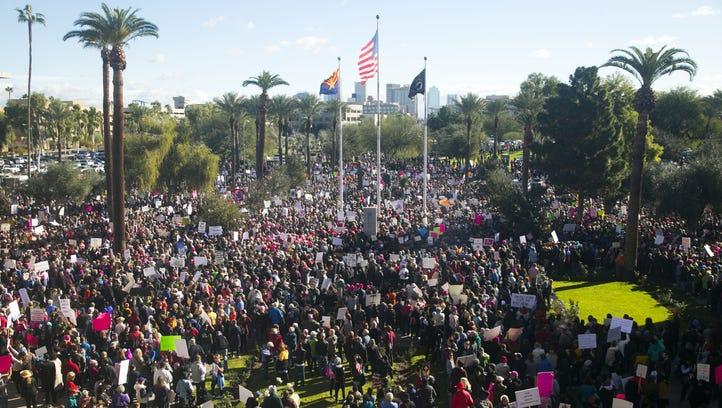 DPS: 20,000 attended Phoenix women's march