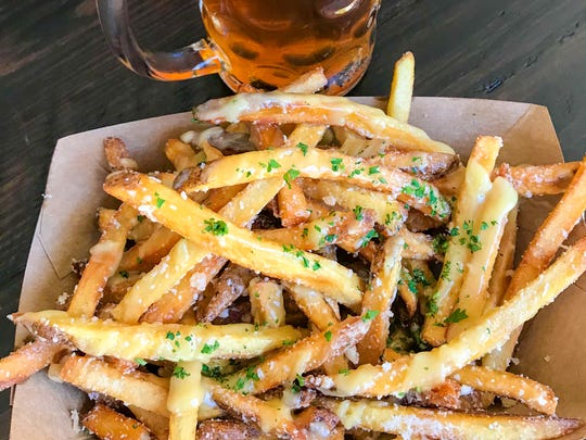 Belgian fries at Von Elrod's Beer Garden & Sausage