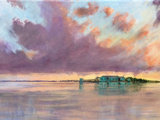 Jeffrey Neel McDaniel created this painting of the Laguna Madre Field Station during the second Texas A&M University-Corpus Christi artist in residence program.