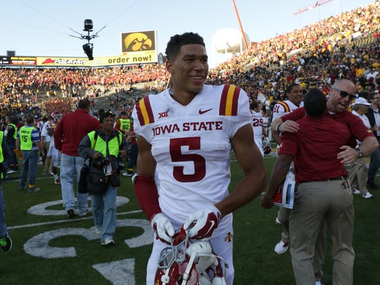 """""""I have high expectations for myself,"""" Iowa State receiver Allen Lazard said. """"I think I should win every battle and I should catch every ball. That's what I want to hold myself to. Until I do that, I won't be pleased."""""""