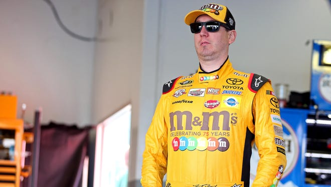 NASCAR Sprint Cup Series driver Kyle Busch (18) during practice for the Daytona 500 at Daytona International Speedway.