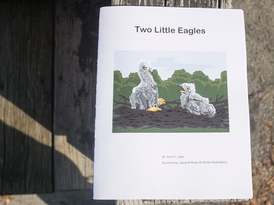 """A cover shot of Karen Lippy's latest book, """"Two Little Eagles,"""" Wednesday, Nov. 2, 2016. The children's book is Lippy's third self-published book.  Amanda J. Cain photo"""