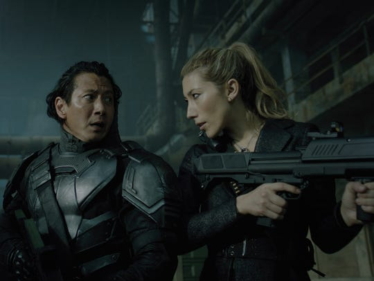 Will Yun Lee, left, and Dichen Lachman in 'Altered