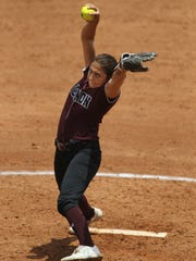 Vernon's Jade Guzman shared 6-4A pitching honors with