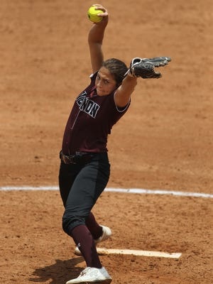 Vernon's Jade Guzman shared 6-4A pitching honors with Graham's Emma Southerland.