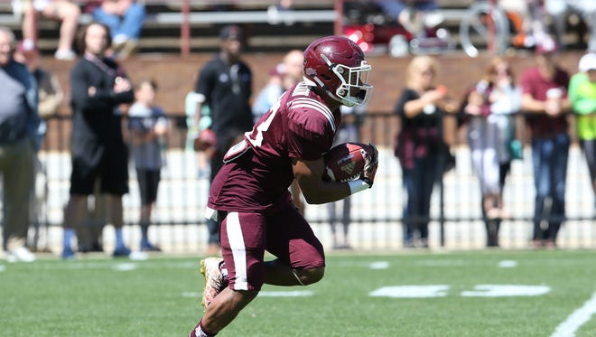 Mississippi State caught a team-high 17 receptions during the three spring scrimmages.