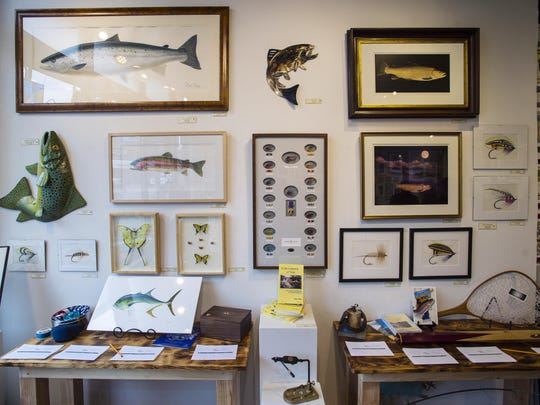 The Frog Hollow Vermont State Craft Center in Burlington, seen on Thursday, May 5, 2016, is hosting a fly fishing-themed exhibit to draw attention to the Green Mountain Chapter of Project Healing Waters Fly Fishing, which seeks to help disabled current and former members of the military deal with physical and emotional issues.