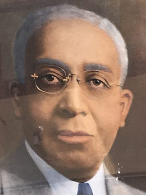 A portrait of Dr. George Bowles in the lobby of the Crispus Attucks Center.
