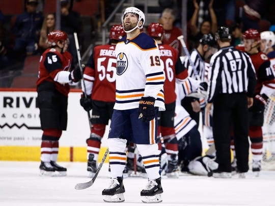 The Devils acquired Patrick Maroon, pictured in a game against the Coyotes, from the Oilers at the NHL Trade Deadline.