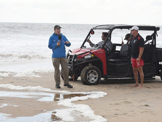 Mike Seidel from the Weather Channel reports from in