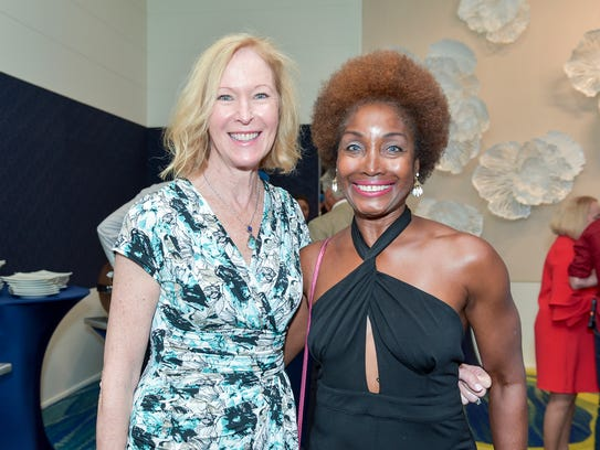 Cynthia Daugherty and Rosalind Neilen at the Mr. StudFinder