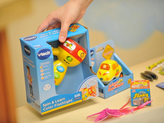 Loud toys, like these two from vtech purchased at Target,
