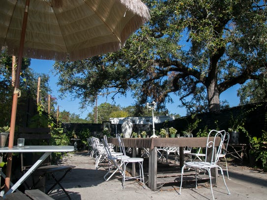 Remedies Parlor has an outdoor garden for customers