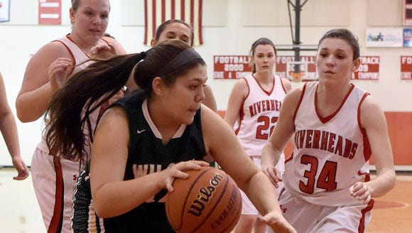 Wilson Memorial's Sarah Sondrol looks for a way to
