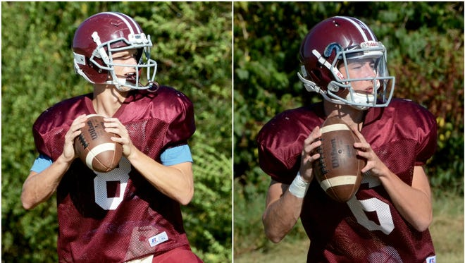 Franklin quarterbacks Wes Patterson (left) and Carter Hendry (right) have helped lead the Rebels to a 7-1 record.
