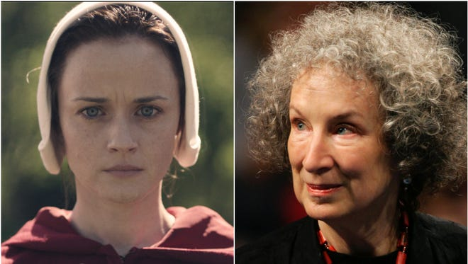 Margaret Atwood, who wrote the 'The Handmaid's Tale,' is reminding critics the dystopian novel came out in 1985.