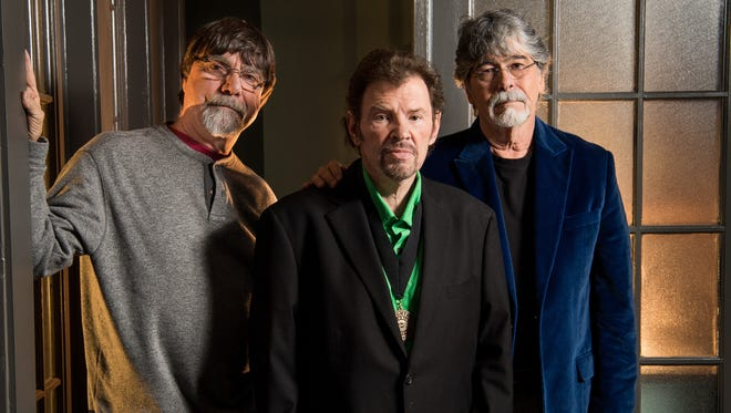 Members of Alabama, from left, Teddy Gentry, Jeff Cook, and Randy Owen, Thursday, April 6, 2017, in Nashville, Tenn.