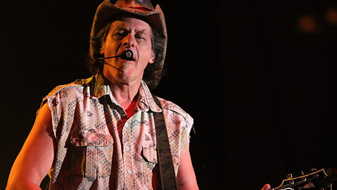 Ted Nugent is in concert Sunday at the Montgomery Performing Arts Centre.