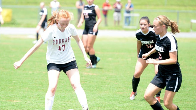 Hannah Chatterton, a junior midfielder, is the Player of the Year on this season's All-Shenandoah District girls soccer team. Chatterton led the Cougars to the district regular season and tournament championships, and a berth in the Class 2, Region B semifinals, where they fell to Clarke County.